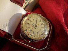 Victorian to Edwardian large silver hand painted enamel ladies wristwatch A/F