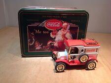 COCA COLA 1913 FORD MODEL T CHRISTMAS VAN in TIN BOX - ERTL #B320