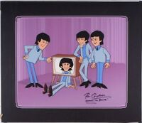 beatles cartoons animation cel rare prototype art signed ron campbell cell