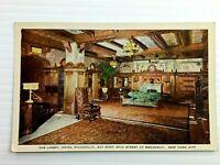Vintage Postcard 1920's The Lobby Hotel Piccadilly Broadway NY New York City