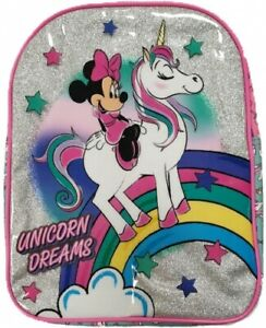 Official Disney Minnie Mouse & Unicorn Sparkle Backpack Rucksack Bag