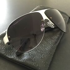 GUESS Women's White 1/2 Frame Gradients Aviator Sunglasses GF0148 64mm