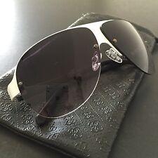 GUESS Women's White 1/2 Frame Gradients Aviator Sunglasses GF0148 64mm