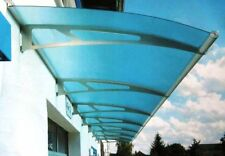 Schulte Vordach LT-Line XL 2050 Pultbogenvordach Acryl Blau 2050 x 250 x 1420 mm