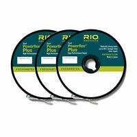 RIO POWERFLEX PLUS TIPPET 3-PACK IN SIZES 0X-1X-2X 50YD SPOOL OF EACH SIZE