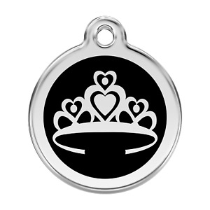 Red Dingo Dog Cat Pet ID Tags Charms FREE Personalized Engraving CROWN