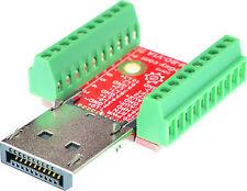 Displayport Male connector Breakout Board, adapter, elabguy DP-M-BO-V1A, VGA