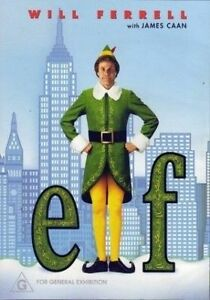 ELF DVD Region 4 Aus - Christmas Comedy Will Ferrell