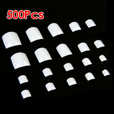 500 White UV Gel Acrylic Fake False Toe Nail Art Tips YM