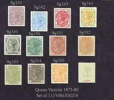 Queen Victoria 1873-80 Set of 11 (forgeries)