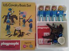 Playmobil playpeople occidental caballería de EE. UU. conjunto básico 1771 en caja de colección Marx Toys
