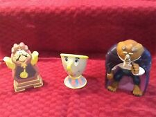 Disney Beauty & The Beast Plastic Hand Puppets Cogswoth, Chip, and The Beast