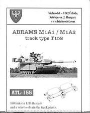 1/35 ATL155 FreeShip FRIULMODEL METAL TRACKS  for US MODERN MBT ABRAMS