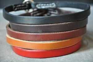 """Hand Made Leather Dog Choker Collar  1/2"""" Wide  Amish Hand Made Color Choice"""