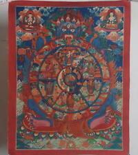 Hand paint WHEEL OF LIFE Thangka! Tibet Buddhist Tantra Prayer Auspicious