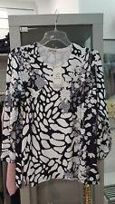 Langarm Shirt schwarz-weiss Glitzerelemente Gr.L (C602)