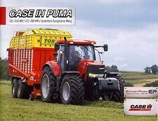 CASE Puma 09 / 2011 catalogue brochure Traktor tracteur tractor