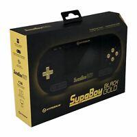 Hyperkin SupaBoy Portable Pocket BlackGold Console SNES Handheld Black Gold