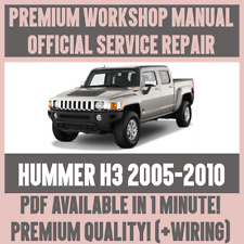 >WORKSHOP MANUAL SERVICE & REPAIR GUIDE for HUMMER H3 2005-2010 +WIRING
