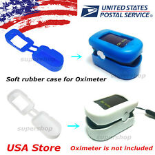 USA blue white soft rubber case for pulse oximeter finger tip spo2 free shipping