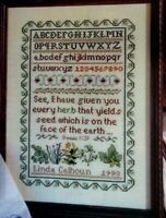 Cross Stitch Pattern Vintage SUMMERS HERBS SAMPLER Genesis 1:29 Bible Verse ABC