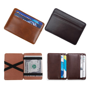 Fashion Men's Faux Leather Slim Wallet Credit Card ID Holder Purse Mini Wallet