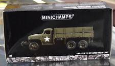 MINICHAMPS 1:35 1943 GMC CCKW 353 B2 FLATBED MILITARY WINCH CARGO TRUCK