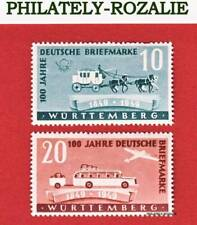 GERMANY FRENCH WURTTEMBERG STAMPS  MH 1949 ANNIVERSARY of the FIRST GERMAN STAMP