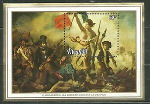RWANDA 1109 MNH SOUVENIR SHEET LIBERTY GUIDING THE PEOPLE BY DELACROIX