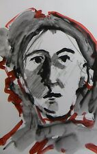 JOSE TRUJILLO PORTRAIT CONTEMPORARY ACRYLIC ON PAPER PAINTING MEDIUM ART DECOR