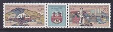 Germany Ddr 2123a Mnh 1980 6th National Youth Philatelic Expo Pair w/Label Vf