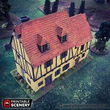 Medieval House  28mm Tabletop Games Dwarven Forge D&D Terrain Wargaming