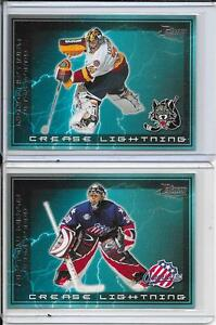 2003-04 Pacific AHL Prospects Crease Lightning Set #d 1-8