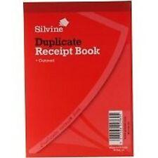 Silvine Duplicate Receipt Book 105x148mm Gummed Pk12 230