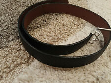 Men's Classic Metal Buckle Handcrafted Genuine Leather Jean Belt NWOT