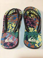 Quicksilver Flip Flops Youth Size 13-1 Beachware Foam Sandals