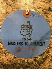 1964 USED MASTERS GOLF BADGE~COLLECTORS ITEM~VERY VERY RARE TICKET~PALMER!!