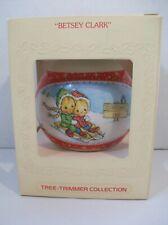 Hallmark Ornament Betsey Clark 1980 Tree Trimmer Collection Children Sledding