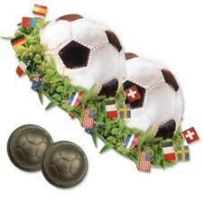 Backform Fussball 2er Set, d=8,5cm, Ball Kuchenform, Fußballkuchenform