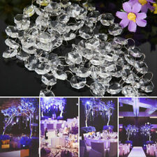 1M Crystal Acrylic Chandelier Part Octagonal 40pc Beads Chain Home Party Decor