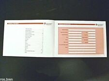 Vauxhall Meriva Service Book History Record Brand New Genuine No Stamps