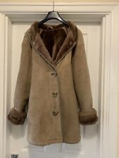 LAKELAND Real Vintage Handmade Sheepskin Coat,Medium