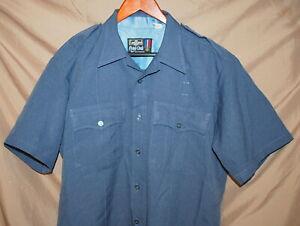 """FLYLING CROSS """"COMMAND"""" Shirt LARGE16 1/2 Blue EUC  Style 85R7826 - Short Sleeve"""