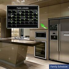 Magnetic Refrigerator Wall Sticker Calendar Monthly Weekly Planner Kitchen Board