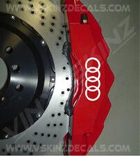 Audi Rings Premium Cast Brake Caliper Decal Stickers TT RS S-line Quattro A3 A4