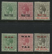 Bahamas 1918-19  6-War Tax stamps mint o.g.