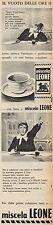 J0469 Miscela LEONE - Pubblicità - 1962 Vintage Advertising