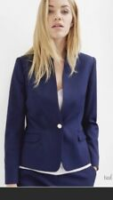 ted baker navy blue textured blazer sz 4 usa 8