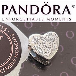 New Pandora Limited Edition Charm Mexico Virgin Mary Distroller Heart Silver