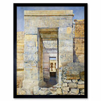 Newman East Entrance Isis Temple Philae Egypt Painting Art Print Framed 12x16